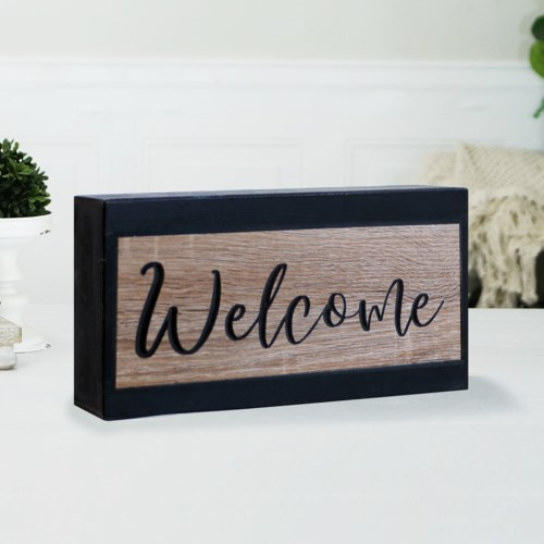 "WD. SIGN ""WELCOME"""