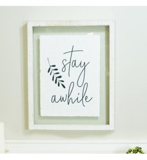 "WD. SIGN ""STAY"""