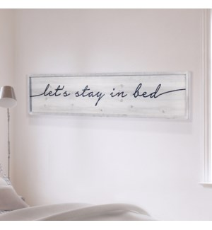 "WD. SIGN ""BED"""
