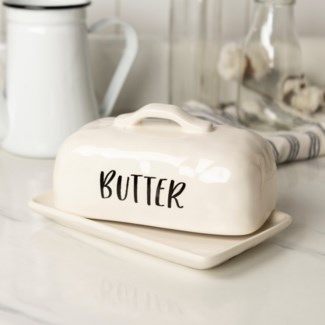 CERAMIC BUTTER DISH (8/cs) (Available Jan 2019)