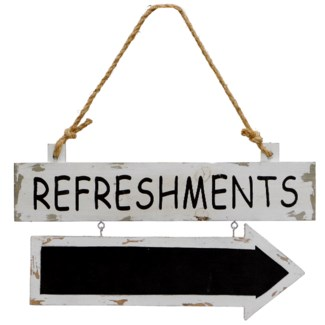 "|WD. SIGN ""REFRESHMENTS"" (24/cs)