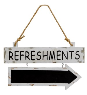 "|WD. SIGN ""REFRESHMENTS""