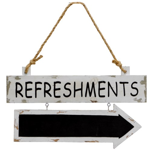 """ WD. SIGN """"REFRESHMENTS"""" """