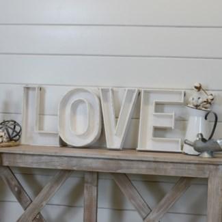 " WD. LETTERS ""LOVE""  (6/cs) "
