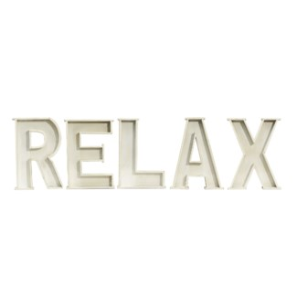 "|WD. LETTERS ""RELAX"" (6/cs)
