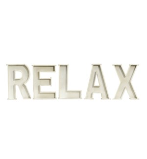 "|WD. LETTERS ""RELAX""