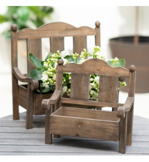 WD. BENCH PLANTERS S/2