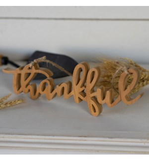 "WD. WORD ART ""THANKFUL"""