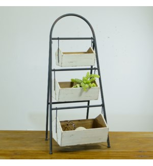 MTL. FRAMED 3 TIERED PLANTER
