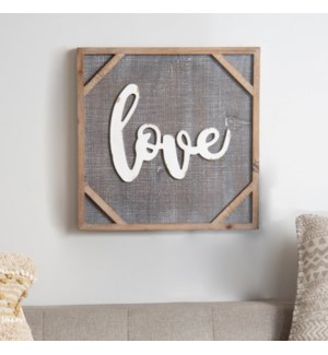 "WD. FRAMED SIGN ""LOVE"""