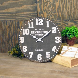 "WD. 13"" WALL CLOCK BLACK (12/cs)"