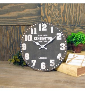"|WD. 13"" WALL CLOCK BLACK