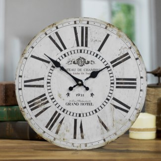 "WD. 13"" WALL CLOCK WHITE (12/cs)"