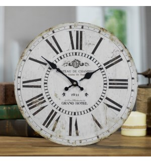 "WD. 13"" WALL CLOCK WHITE"