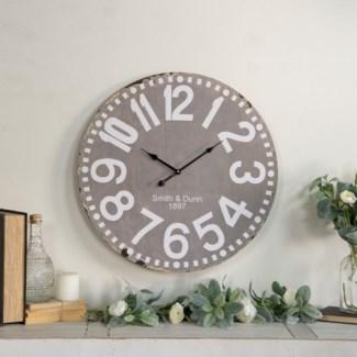 "WD. 23"" WALL CLOCK GREY (4/cs)"