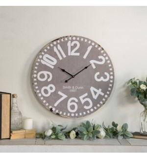 "|WD. 23"" WALL CLOCK GREY