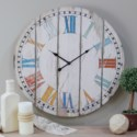 "WD. 23"" WALL CLOCK COLORFUL SLATS (4/cs)"