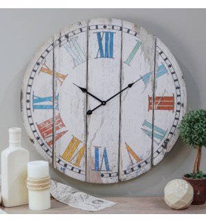 "|WD. 23"" WALL CLOCK COLORFUL SLATS
