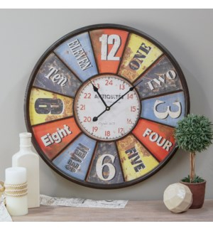"|MTL. 23"" FRAMED WALL CLOCK
