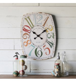 "WD. 27"" WALL CLOCK"