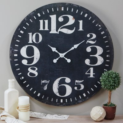 "WD. 28"" WALL CLOCK BLACK (2/cs)"