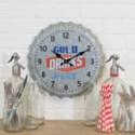 |MTL. BOTTLE CAP WALL CLOCK (12/cs)|