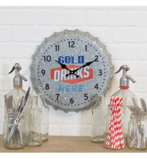 |MTL. BOTTLE CAP WALL CLOCK|