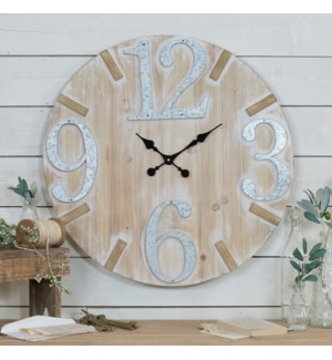 WD./MTL. WALL CLOCK 28""