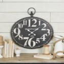 MTL. OVAL WALL CLOCK (2/cs)