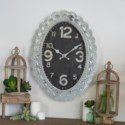 MTL./WD. WALL CLOCK (4/cs)