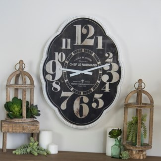 MTL./WD. WALL CLOCK (1/cs)
