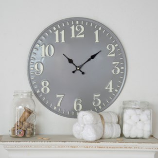 "MTL WALL CLOCK 16"" (8/cs)"