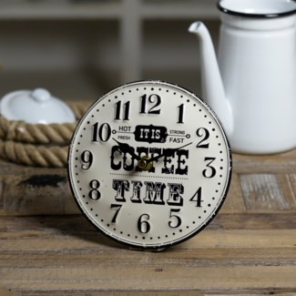 "MTL. TABLE CLOCK ""COFFEE"" (24/cs)"