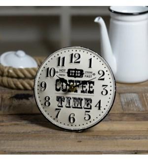 "|MTL. TABLE CLOCK ""COFFEE""|"