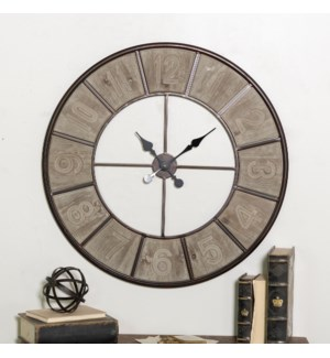|MTL./WD. WALL CLOCK|