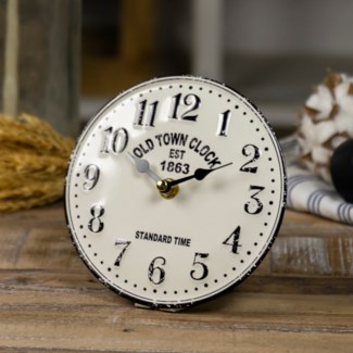 "MTL. TABLE CLOCK ""OLD TOWN"" (24/cs)"