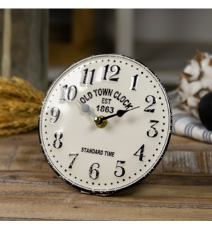 "MTL. TABLE CLOCK ""OLD TOWN"""