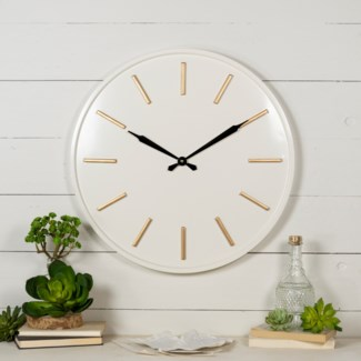 MTL. WALL CLOCK  (2/cs)