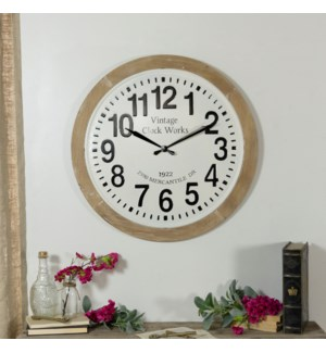 MTL./WD. WALL CLOCK