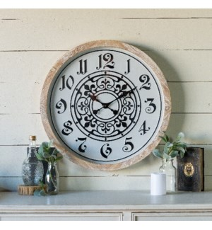 MTL/WD. WALL CLOCK