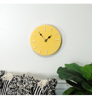 MTL. WALL CLOCK YLW