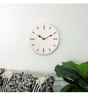 MTL. WALL CLOCK WHT