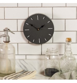 MTL. WALL CLOCK GRY