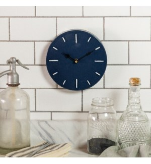 MTL. WALL CLOCK BLUE