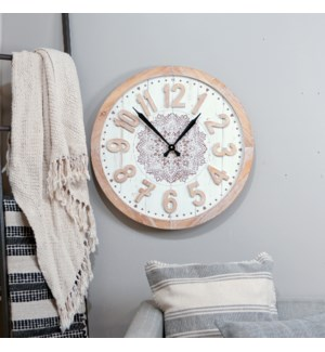 WD. CLOCK W/RAISED LETTERS