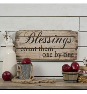 "|BLESSINGS"" WOOD SIGN