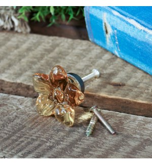 |RESIN YELLOW FLOWER KNOB|