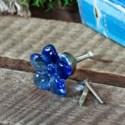 |ACRYLIC FLOWER DRAWER PULL BLUE (96/cs)|
