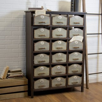 WD. & MTL. 18 DRAWER CABINET (1/cs)