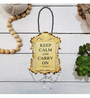 |MTL. JEWELED SIGN 'KEEP CALM'|